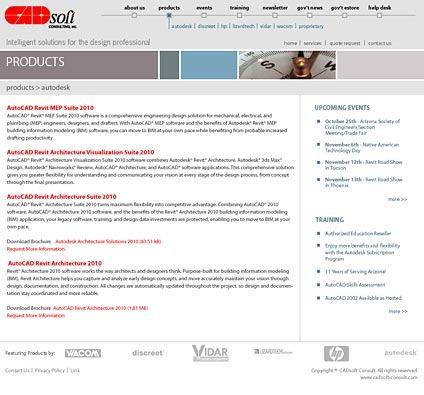CADsoft Consult Product Page